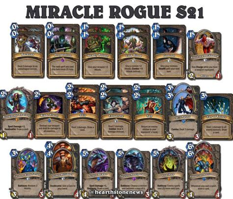 rogue deck hearthstone 17 best ideas about hearthstone miracle rogue on