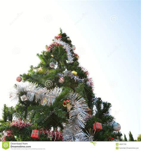 big christmas tree stock image image of tree gift