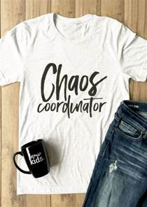 chaos coordinator o neck short sleeve t shirt fairyseason
