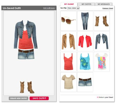 design outfits online new idea build your outfit add on