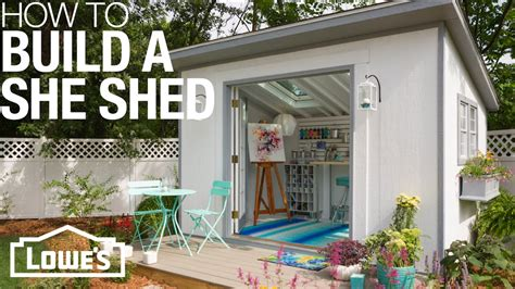 how to build a she shed she sheds plans for how to build customize youtube