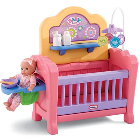 4 In 1 Baby Born 174 Nursery At Little Tikes Joguines Mae Baby Doll Crib Toys R Us