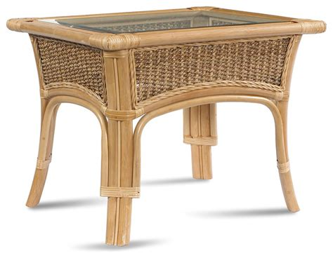 tropical accent tables rattan coffee table tropical breeze tropical side