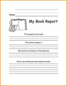fourth grade book report template book report template 3rd grade 5 3rd grade book report