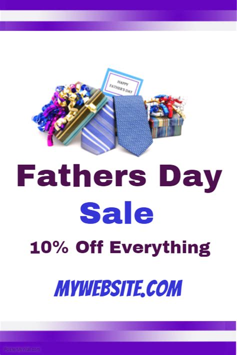 fathers day sale event flyer template postermywall