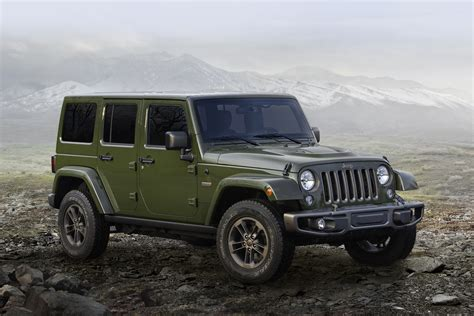 Jeep Wrangler Editions Jeep Celebrates 75th Birthday With Limited Edition Models