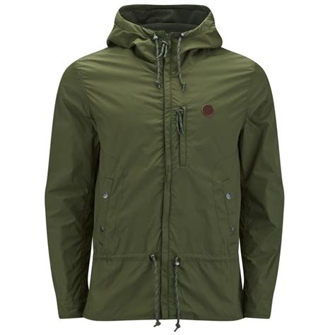 Pretty Green Oasis Sweater Hoodie pretty green s quilt lined cagoule green clothing thehut