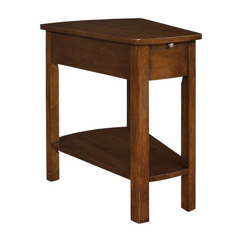 end tables for small spaces small spaces brown wedge end table id 344 project
