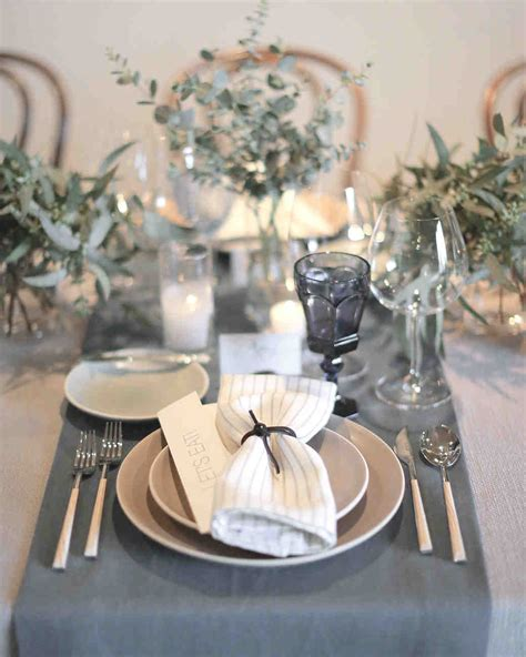 Table Settings For Weddings 18 Creative Ways To Set Your Reception Tables Martha Stewart Weddings