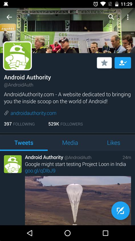 twitter layout android twitter s automatic night mode theme is just glorious