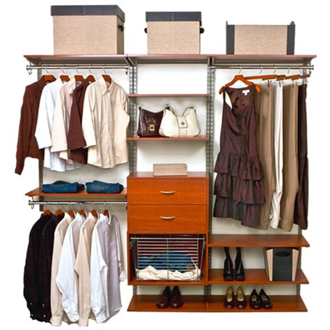 freedomrail closet shelving system cherry in pre