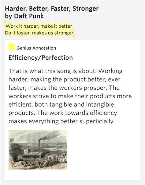 harder better faster stronger lyrics work it harder make it better harder better faster