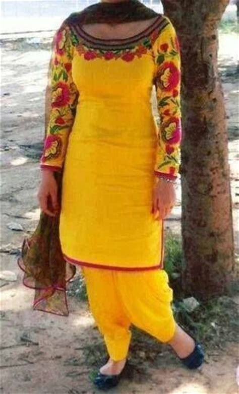boutique in punjab hand embriodery machine embriodery yellow punjabi suit with embroidery punjabi suits and