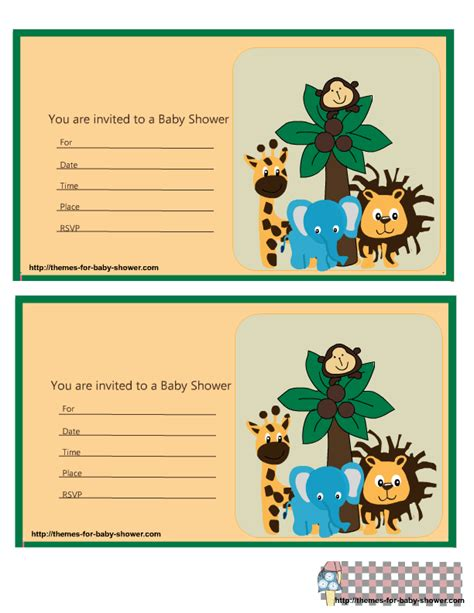 printable invitation labels nice the jungle for baby shower free printable kit oh