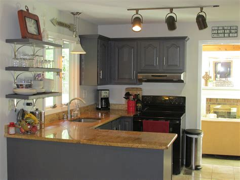 kitchen painted cabinets remodelaholic diy refinished and painted cabinet reviews