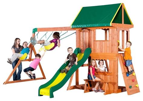 backyard somerset swing set backyard discovery somerset wood swing set 65012