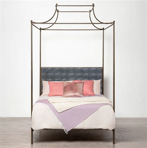 queen canopy bed carissa queen canopy top four poster metal bed mecox gardens
