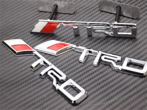 Emblem Trd Chrome Berkualitas a set trd logo chrome metal 3d grill badge grille emblem toyota tacoma tundra fj ebay