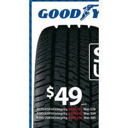Walmart Tires Deals Goodyear P195 70r14 Integrity Tire At Walmart Black Friday