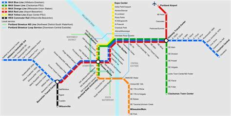 cities light rail map file portland rail map png