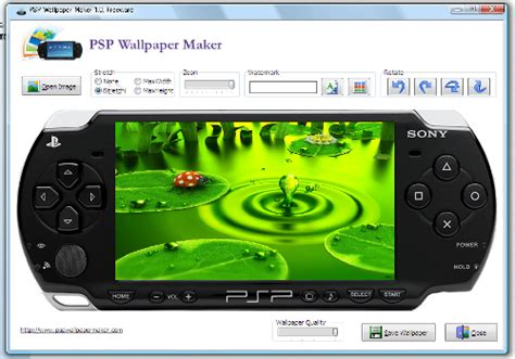wallpaper laptop maker psp背景の壁紙を簡単に作成できるソフト psp wallpaper maker フリーソフト windows