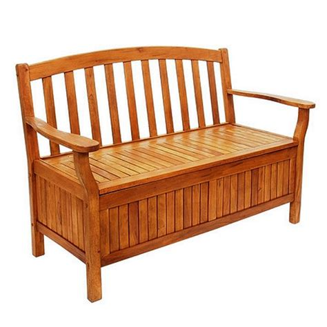 patio storage bench garden grove wooden storage bench