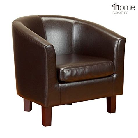 Leather Tub Dining Chairs 1home Bonded Leather Tub Chair Armchair For Dining Living Room Office Reception Brown