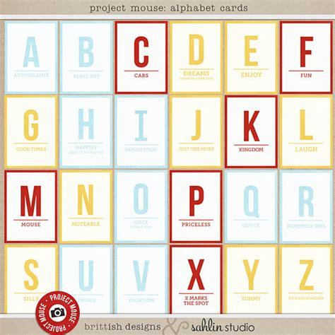 Letter Cards Project Mouse Alphabet Cards Sahlin Studio Digital Scrapbooking Designs