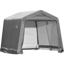 Portable Outdoor Shed Shelterlogic Portable Storage Shed In Storage Sheds