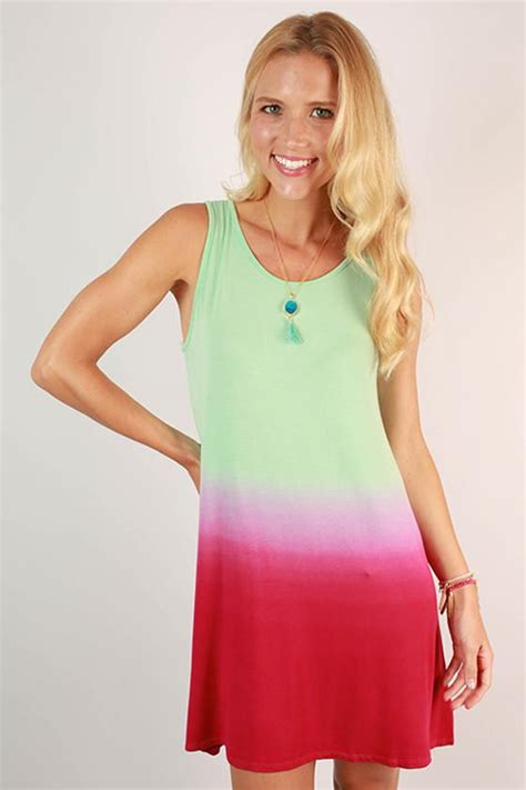 Pink Flow Dress Qif go with the flow ombre tank dress in pink impressions boutique