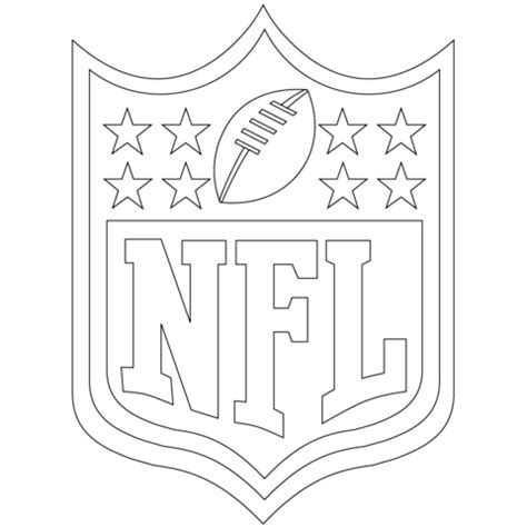 Nfl Symbols Coloring Pages | nfl logo coloring page free printable coloring pages