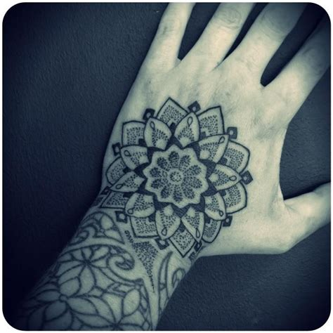mandala hand tattoo mandala dotwork my work ornamental