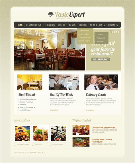 templates for books website restaurant reviews website template 33520