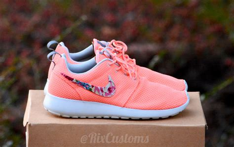 nike roshe run floral pink and green 46 00