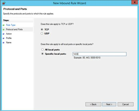 sql port connect to a sql server machine on azure classic