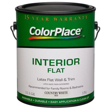 colorplace interior flat paint country white walmart