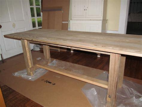 Ana White We Built A Table Using Reclaimed Wood Diy Diy Reclaimed Wood Desk