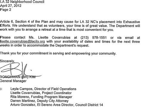 Hoa Board Member Resignation Letter Mayor Sam S City Home Of Los Angeles Politics April 2012
