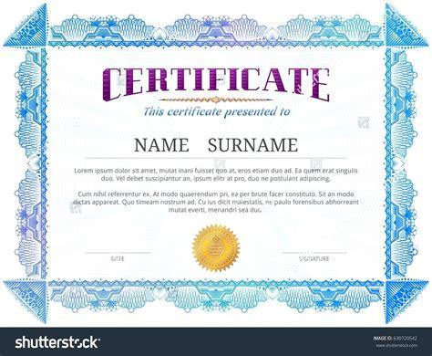 blue certificate template template blue certificate template
