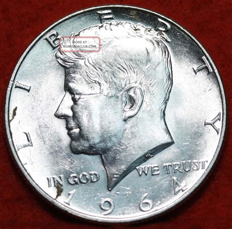 uncirculated 1964 d kennedy half dollar s h
