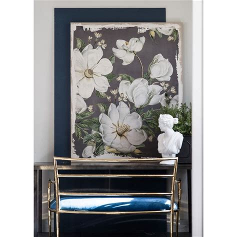 magnolia blooms printed canvas wall art