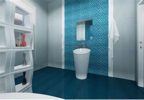 blue tile bathroom floor colorful and unique bathroom floor tile ideas furniture