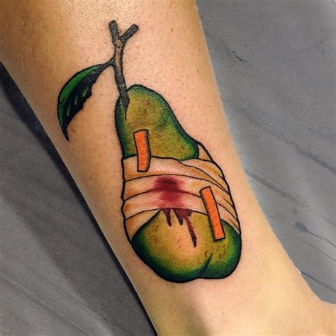 pear from the codexseraphinianus by eddie zavala tattoonow