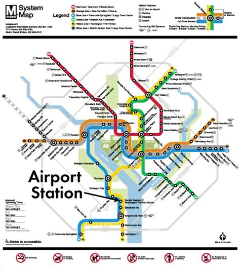 silver line metro map washington dc airport map my