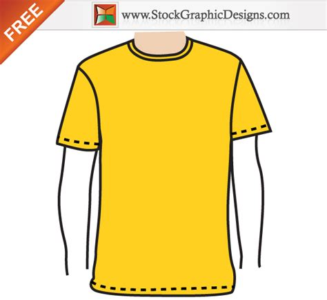 apparel men s blank t shirt template free vector