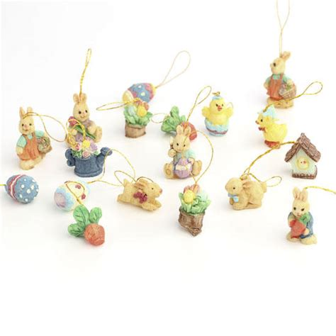 miniature decorations miniature polystone easter themed ornaments what s new