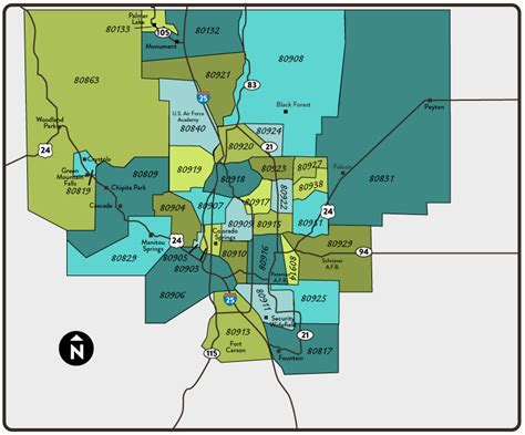 colorado springs zip code map homes for sale by colorado springs zip code