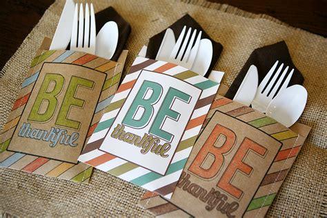 printable thanksgiving utensil holder be thankful utensil holders eighteen25