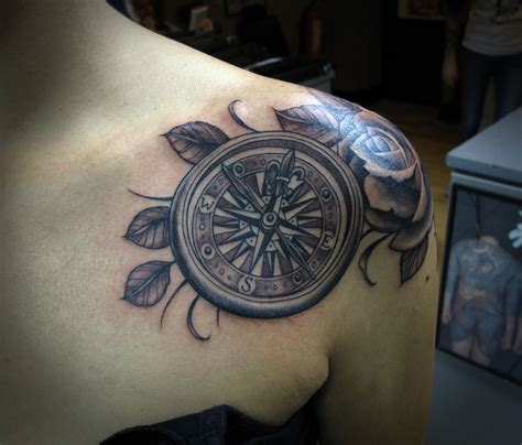 rose tattoo images compass tattoos designs ideas and meaning tattoos for you