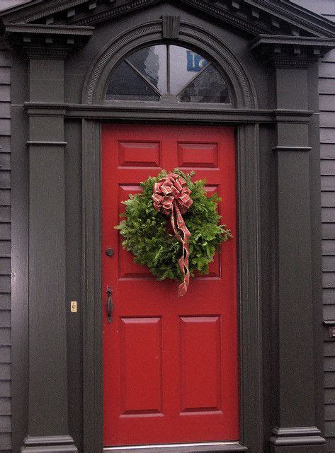 red door home decor red door with wreath outdoor living decor pinterest
